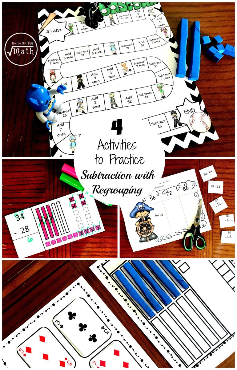 4 Activities to Practice Subtracting With Regrouping 00001