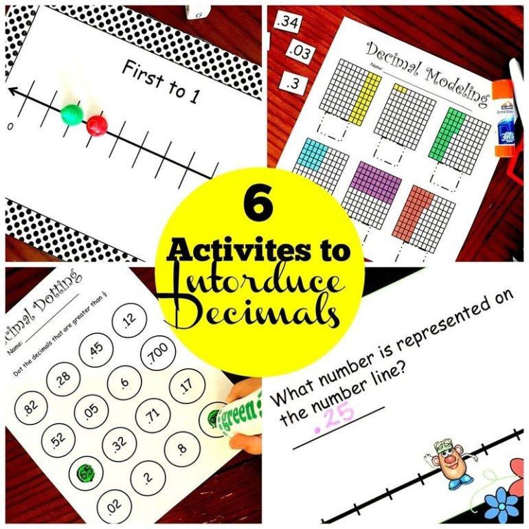 6 Introducing Decimals Activities