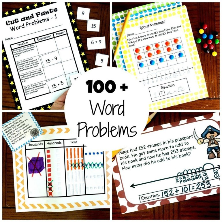 100 Word Problems For K - 2nd Grade 00023