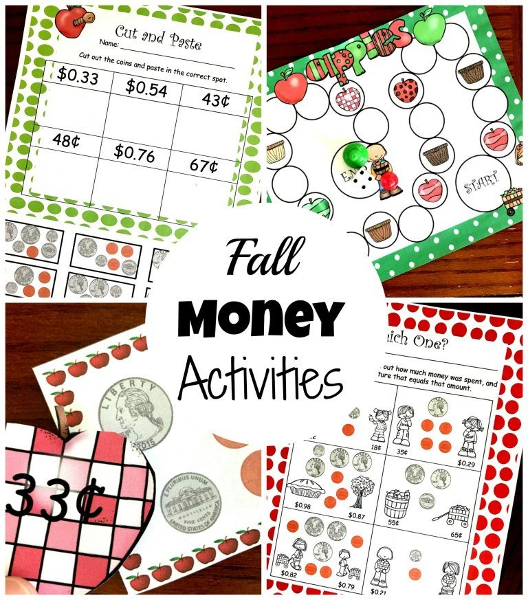 6 Counting Coin Activities with an Apple Theme 00028