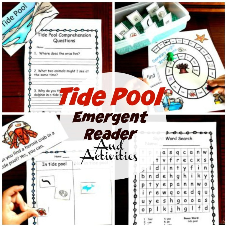 Tide Pool Emergent Reader and Activities