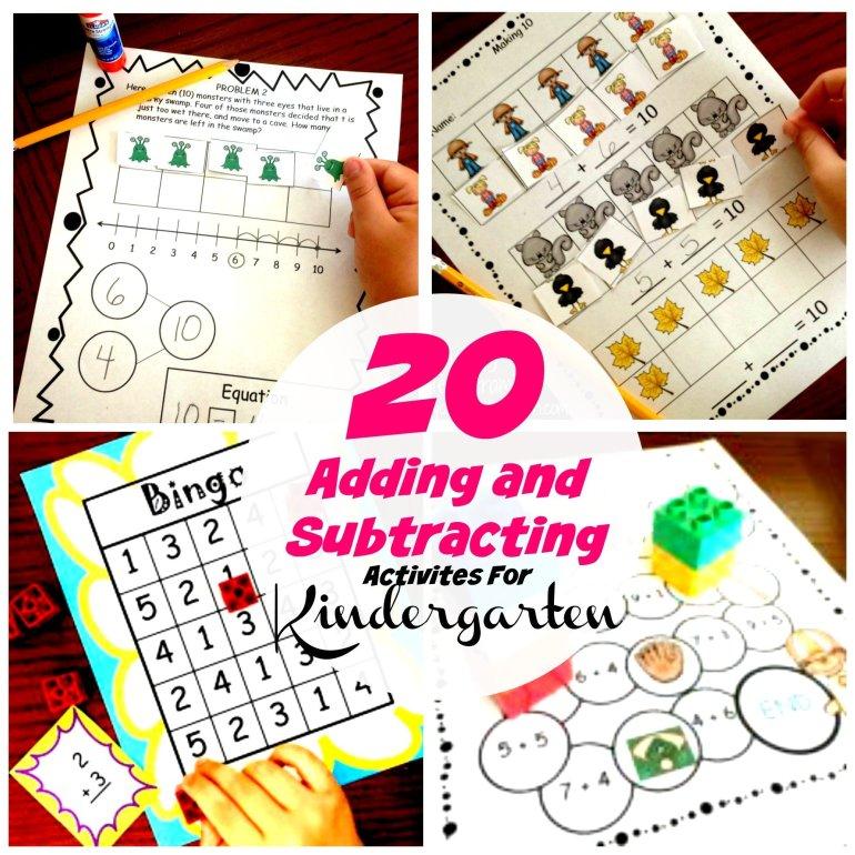 20 Adding and Subtracting Activities For Kindergarteners 00030