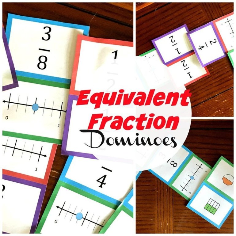 Equivalent Fraction Dominoes