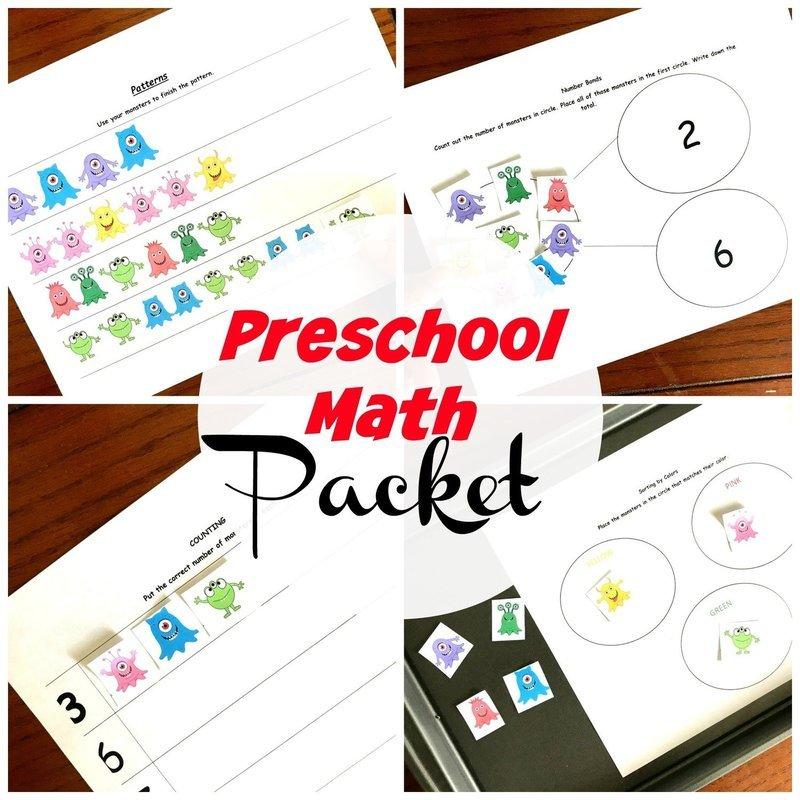 Preschool Math Packet