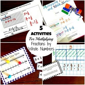 5 Activities For Multiplying Fractions By Whole Numbers