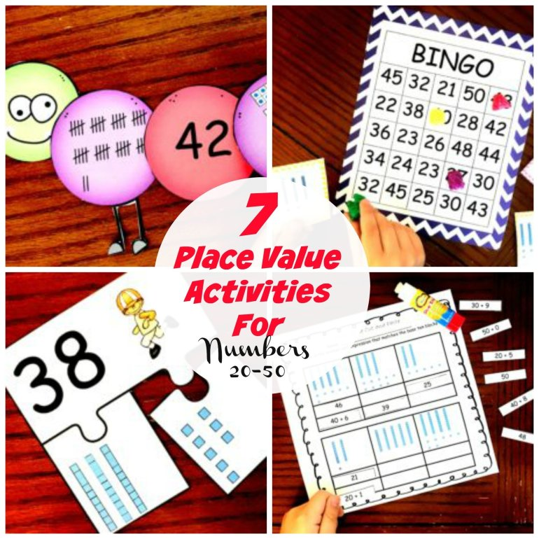 7 Place Value Activities for Numbers 20 - 50 00046