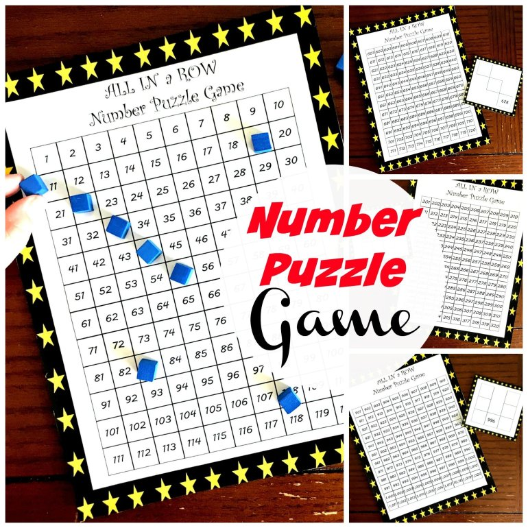 Hundreds Chart Puzzles for 1 to 900 00047