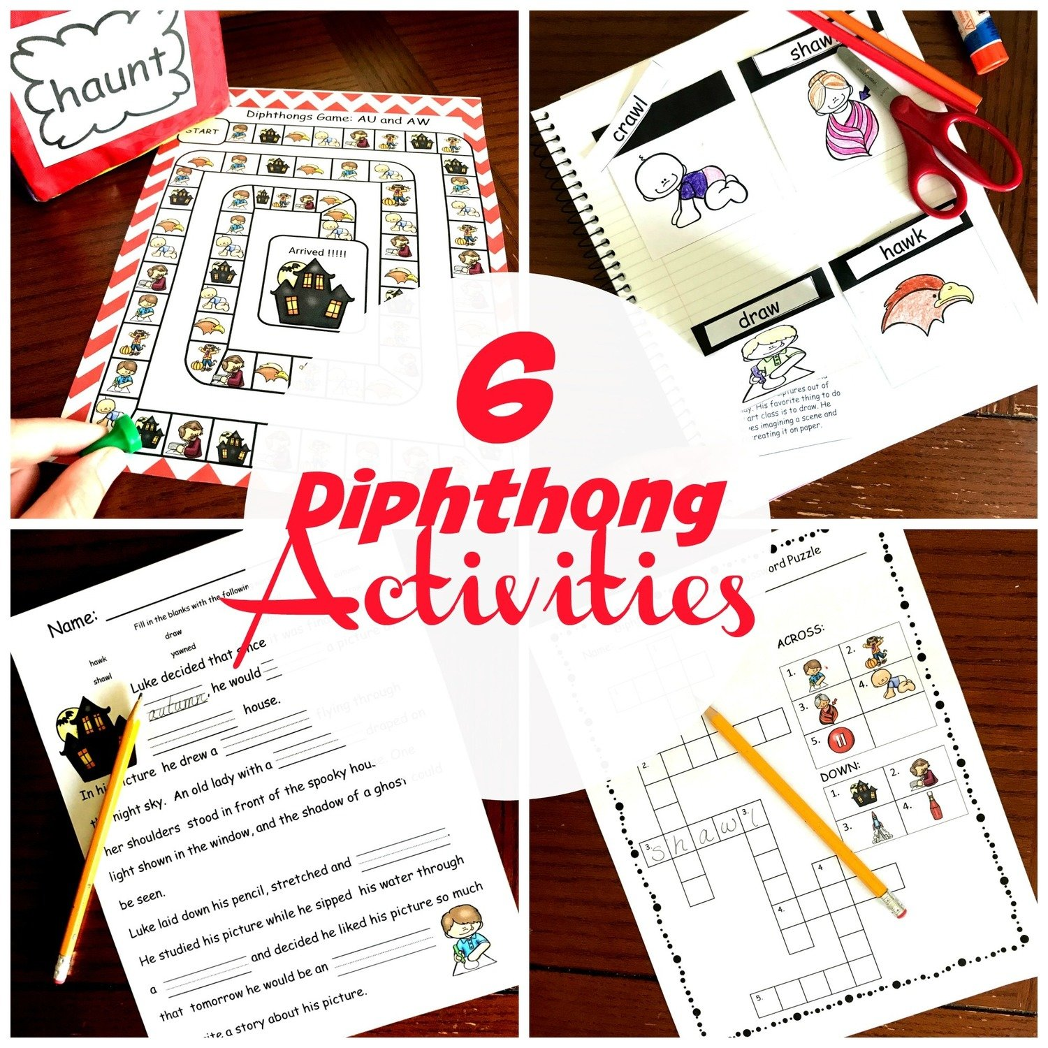 6 Diphthong Activities
