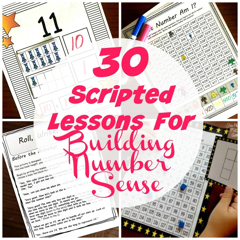 30 Scripted Lessons for Building Number Sense