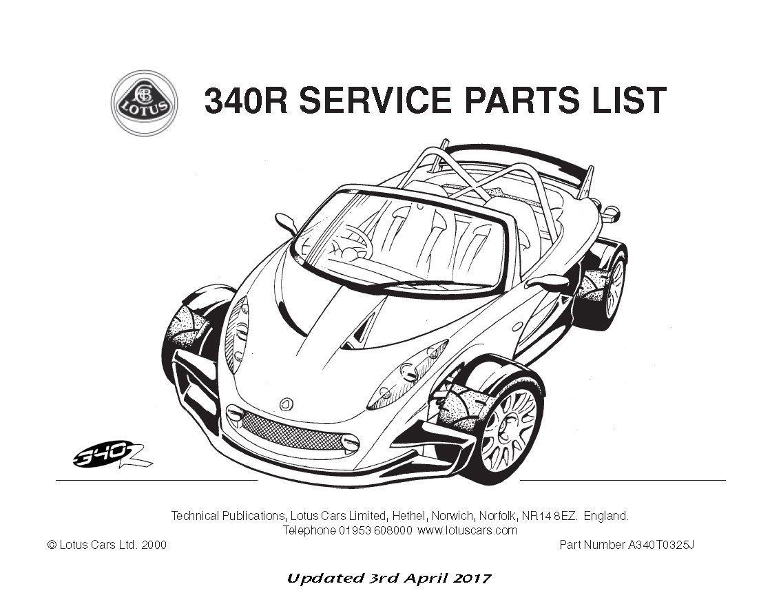 Teile Handbuch Lotus 340r