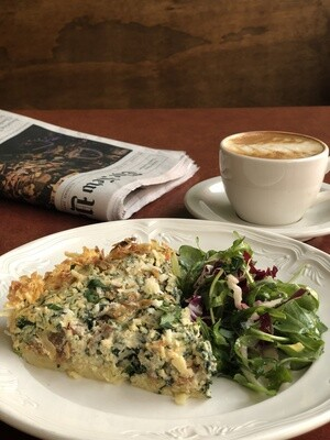 Whole Quiche: Spinach and Tomato Confit (gf)