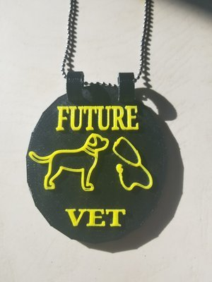 Future Vet medallion