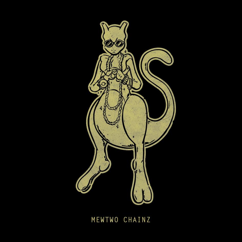 PokéRappers Tee - Mewtwo Chainz 00001