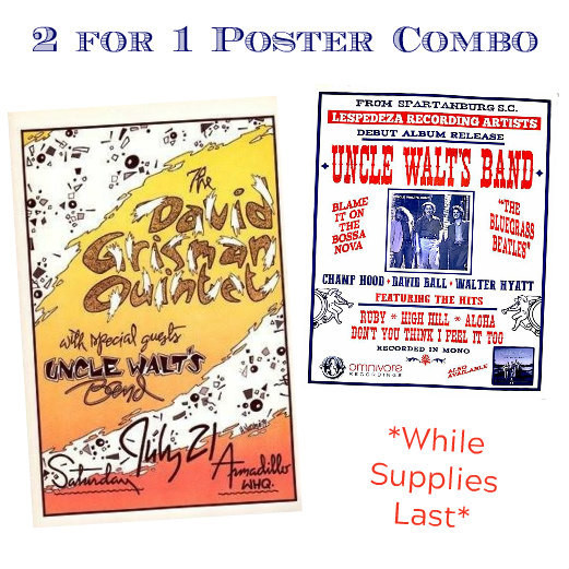 David Grisman / Uncle Walt's Band Poster Combo