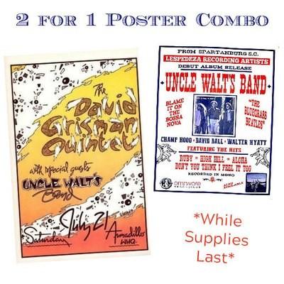 David Grisman / Uncle Walt's Band Poster Combo