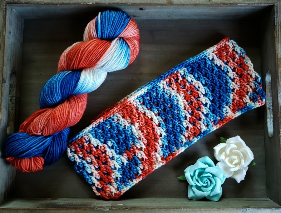 Autumn Cowl Hand Dyed Yarn and Crochet Pattern