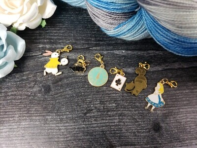 Alice in Wonderland Stitch Marker Set