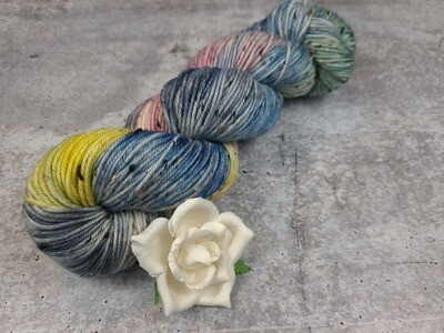 April Showers Hand Dyed Tweed DK Yarn RTS
