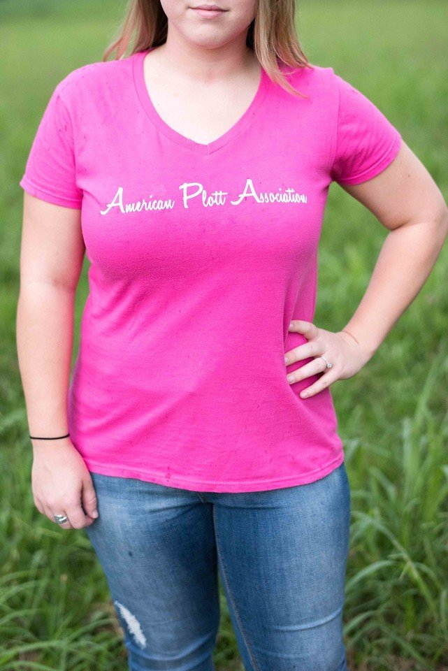 Women's Pink T- There's nothing hotter than a Plott 00023