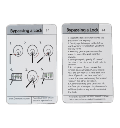 4 lock picking instruction and tip card [ 1125 x 1500 Pixel ]