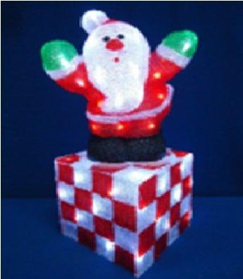 Акриловая Новогодняя светодиодная фигура Дед Мороз 53см