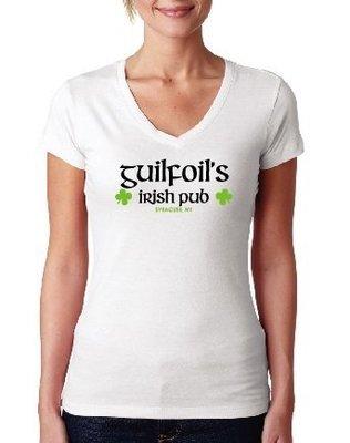 White Guilfoil's Logo V-Neck