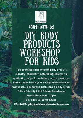 PRIVATE KIDS WORKSHOP - 5th July - DIY BODY PRODUCTS