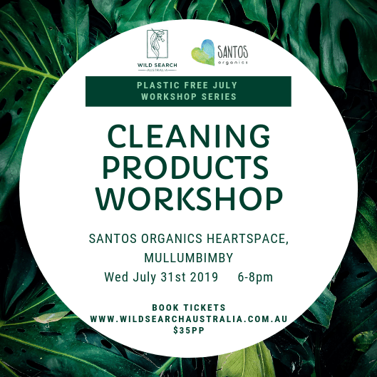 31st July - Plastic Free July - DIY Cleaning Products Basics Workshop - Mullumbimby