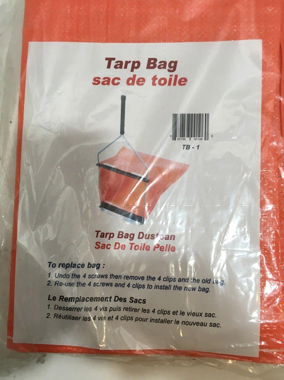 Dust Pan Hoop Scoop Replacement Tarp Bag Orange