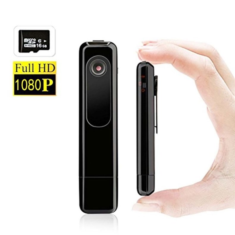 HD 1080P USB Digital Voice Recorder with Hidden Camera/Camcorder Black TM86032406