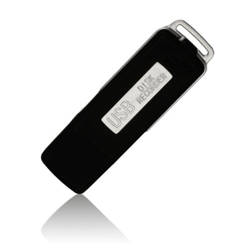 8GB Keychains Digital Voice Recorder USB Flash Drive UR-08 Black
