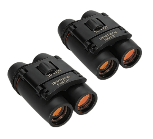 2pcs 30 x 60 126X 1000m High Power Folding Binoculars Telescope - Black TMBD106453