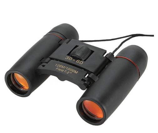 3pcs 30 x 60 126X 1000m High Power Folding Binoculars Telescope - Black