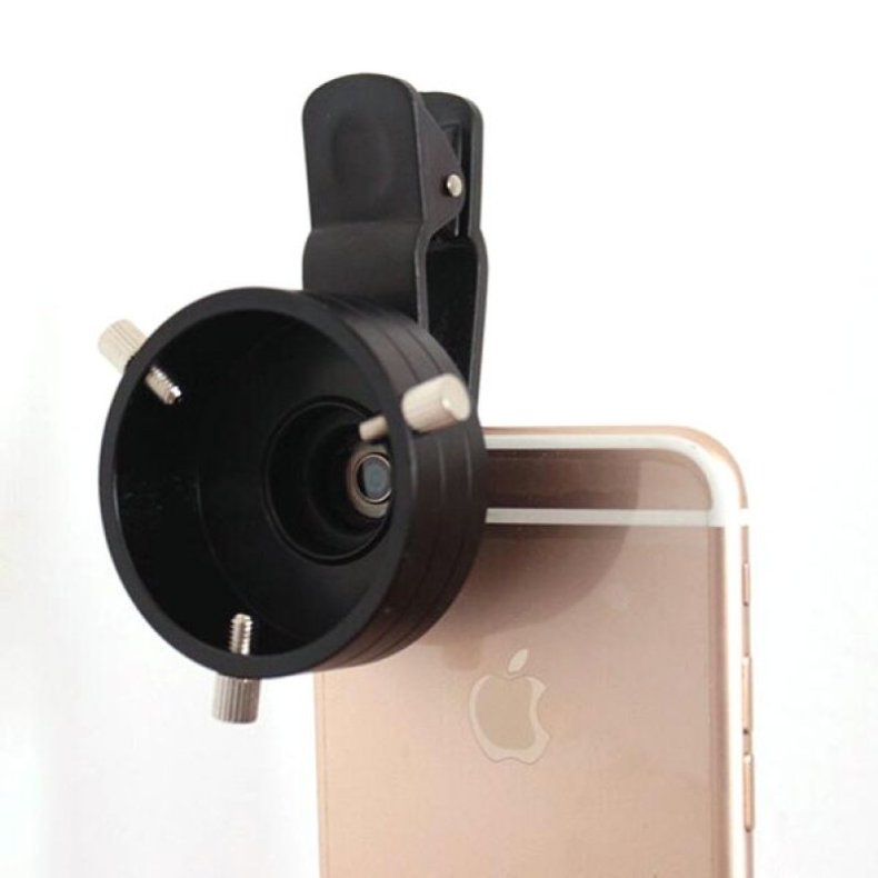 48.5mm Cellphone Telescope Adapter Lens Monocular Binoculars Mount w/ Clip Dia TM86013023