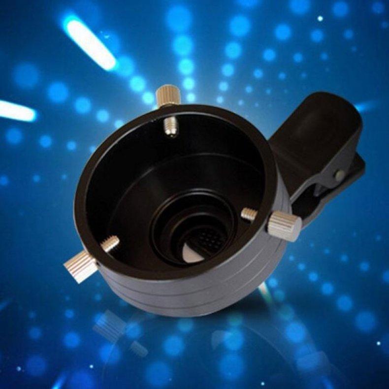 43.5mm Telescope Adapter Cellphone Lens Monocular Binoculars Mount w/ Clip Dia