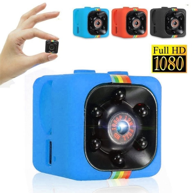 SQ11 Full HD 1080P Mini DV Video Camera Night Vision Recorder - Blue TM86034519