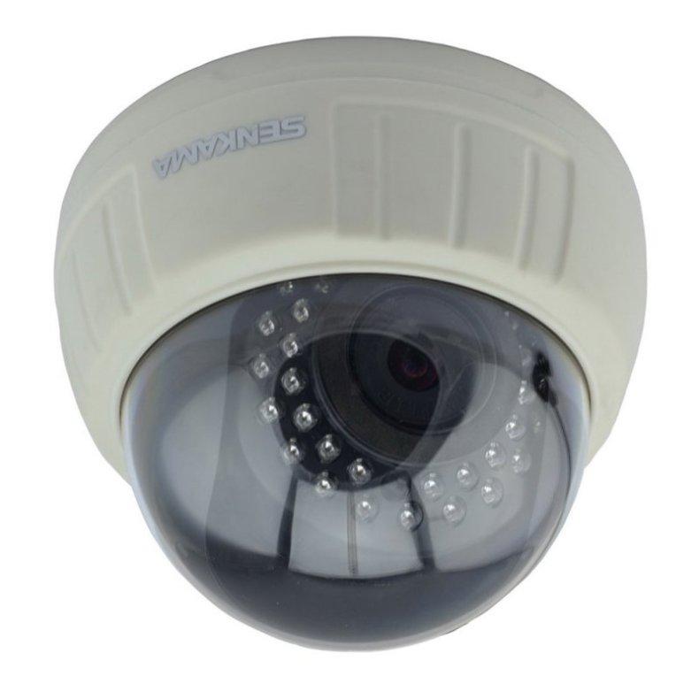 SENKAMA V-627W Wireless Wi-Fi 1.0MP CMOS P2P Night Vision Surveillance Indoor IP Camera with IR-CUT White TM86TT2794