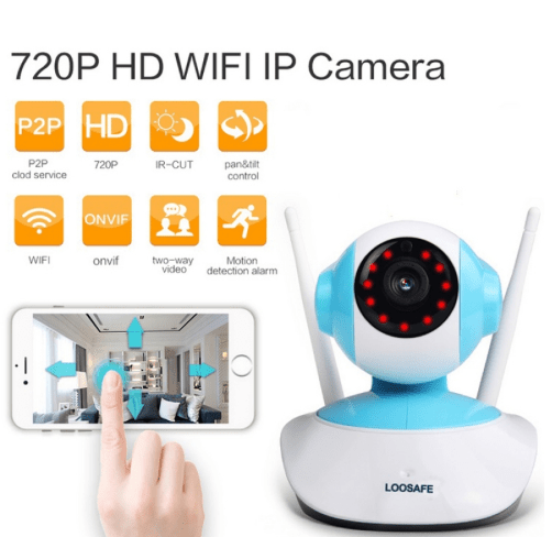 720P HD 1MP WIFI Indoor Surveillance IP Night Vision Camera w/ UK Plug TM86021891
