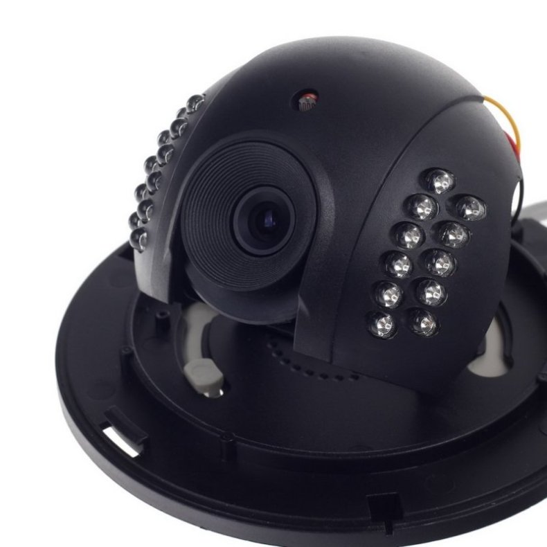 "1/3"" CMOS 600TVL Surveillance Dome Camera with 22-IR LED White + Black Paisan PS-3428CK"