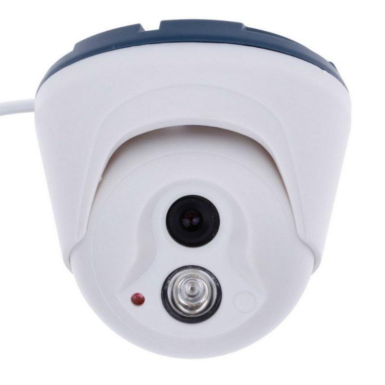 """1/4"""" CMOS 800TVL Surveillance Dome Camera with 1-IR LED White TM86TT2479"""
