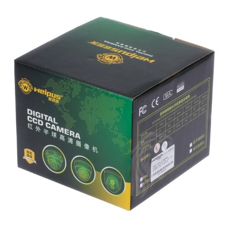 """1/4"""" CMOS 800TVL Surveillance Dome Camera with 1-IR LED White"""