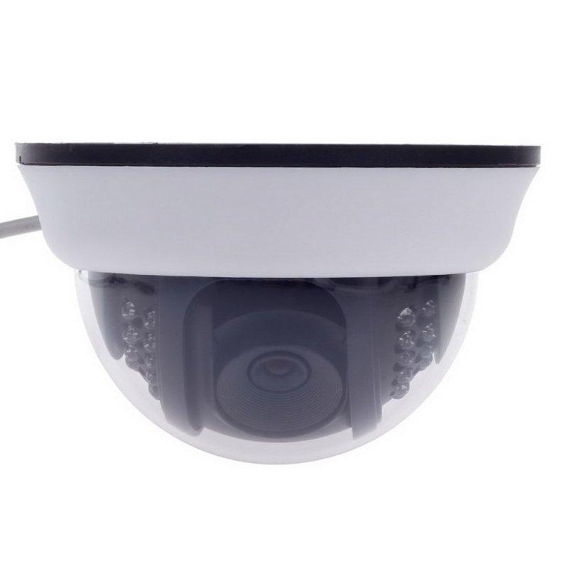 "1/3"" CCD 600TVL Surveillance Dome Camera with 22-IR LED White + Black Paisan PS-3428CF TM86TT2473"