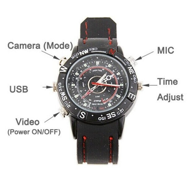 8GB HD Waterproof Camcorder Watch Wrist DV Pinhole Camera Digital Video Recorder Cam