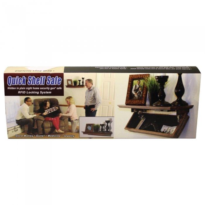 Quick Shelf Safe with RFID - Walnut