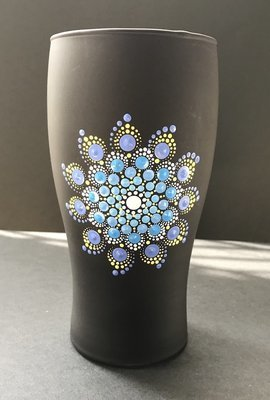 Dot Mandala Beer Beverage Glass