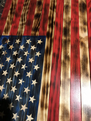 Burnt Stars and Stripes Flag