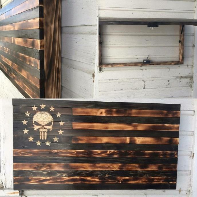 Punisher 13 Hidden Compartment Flag