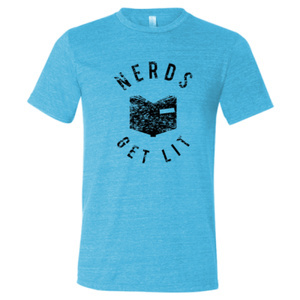 Aqua Nerds Get Lit Shirt XL 00031