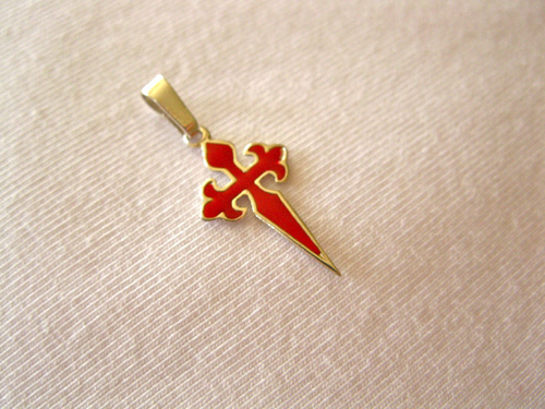 MINI option of sterling silver and red cross of St James