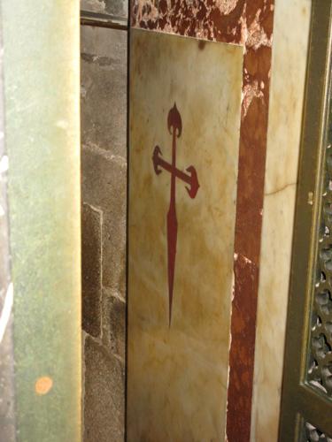 St James cross / cruz de Santiago necklace ~ 18ct gold
